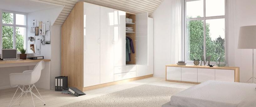 4 tipps dachschr ge einrichten sch n gestalten und. Black Bedroom Furniture Sets. Home Design Ideas