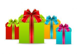 Bunte Geschenkkartons
