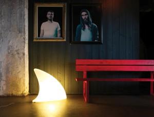 Indoor Lampe in Form einer Haiflosse