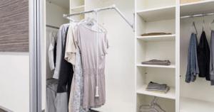 Kleiderlift für Ankleide