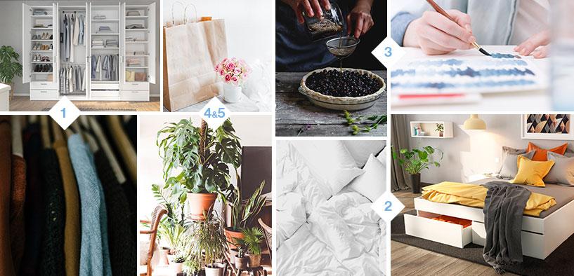 Collage mit Bildern zu den guten Vorsätzen