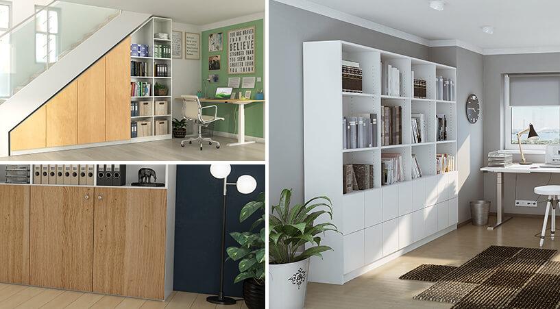 Collage von Büro-Einrichtungen
