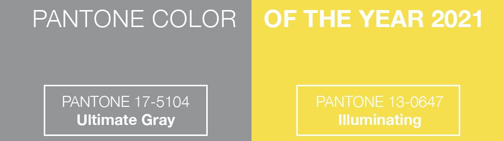Die Pantone Farben des Jahres 2021 - Grau und Gelb