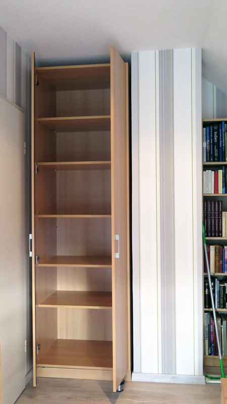 hoher schrank finest cavadore cavadore sharpcutbad hoher schrank in wei mit weier with hoher. Black Bedroom Furniture Sets. Home Design Ideas