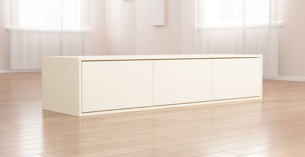 tv board lowboard granada v2 korpus in wei front in creme hochglanz smash. Black Bedroom Furniture Sets. Home Design Ideas