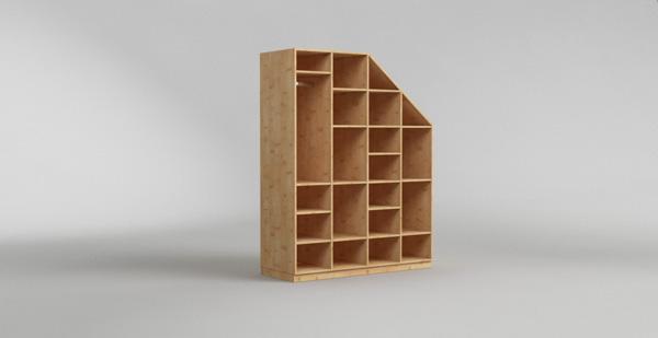 schr nke f r dachschr gen nach ma. Black Bedroom Furniture Sets. Home Design Ideas
