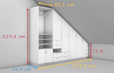 Wohnzimmerschrank für Dachschräge konfigurieren  deinSchrank.de