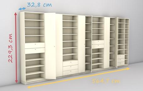 Regalsystem holz mit türen  Regal mit Türen online nach Maß planen & bestellen | deinSchrank.de